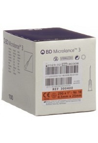 BD MICROLANCE 3 Inj Kanüle 0.50x25mm orang 100 Stk