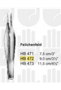 BUTSCH Splitterpinzette Feilchenfeld 9cm