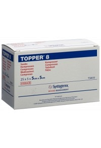TOPPER 8 NW Kompr 5x5cm steril 25 Btl 5 Stk