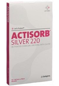 ACTISORB SILVER 220 Kohleverb 19x10.5cm 10 Stk
