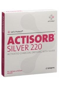 ACTISORB SILVER 220 Kohleverb 10.5x10.5cm 10 Stk