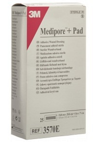3M MEDIPORE+PAD 10x20cm Wundkissen 5x15.5cm 25 Stk