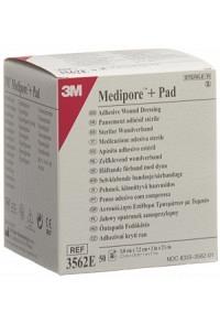 3M MEDIPORE+PAD 5x7.2cm Wundkisse 2.8x3.8cm 50 Stk