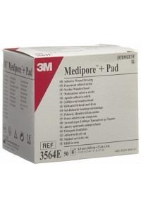 3M MEDIPORE+PAD 6x10cm Wundkissen 3.4x6.5cm 50 Stk