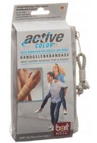 BORT ActiveColor Handgelenkbandage M -19cm beige