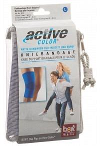 BORT ActiveColor Kniebandage L +37cm blau