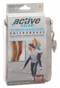 BORT ActiveColor Kniebandage L +37cm hautfarbe