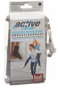 BORT ActiveColor Knöchelbandage L +23cm schwarz