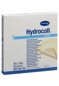 HYDROCOLL THIN Hydrocolloid Verb 10x10cm 10 Stk