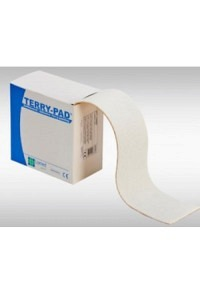 LOMED Terry Pad 8cmx4mx2mm weiss selbstkleb Rolle