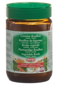 MORGA Gemüse Bouillon inst fettfrei natriuma 200 g