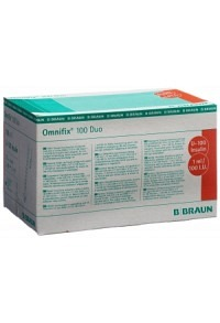 OMNIFIX Insulin 1ml duo mit Kanüle G26 100 Stk