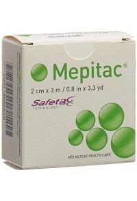 MEPITAC SAFETAC Fixierverband 2cmx3m Silikon