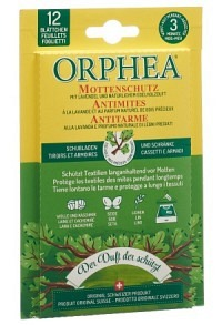 ORPHEA Mottenschutz Blätter Edelholzduft 12 Stk (Achtung! Versand nur INNERHALB der SCHWEIZ möglich!
