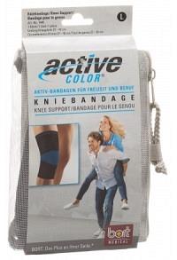 BORT ActiveColor Kniebandage XL +42cm schwarz
