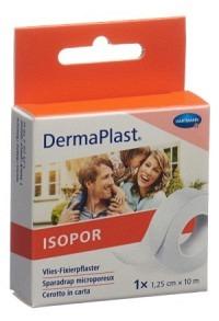 DERMAPLAST ISOPOR Fixierpf 1.25cmx10m vl we Rolle