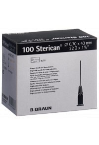 STERICAN Nadel 22G 0.70x40mm schwarz Luer 100 Stk