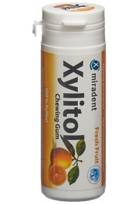 MIRADENT Xylitol Kaugummi Frucht 30 Stk