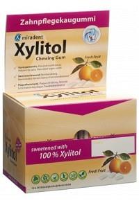 MIRADENT Xylitol Kaugummi Frucht 12 x 30 Stk