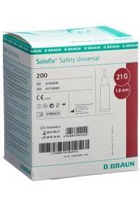 SOLOFIX SAFETY Lanzette Unive 21 G x 1.8mm 200 Stk