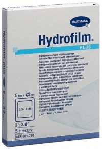 HYDROFILM PLUS wasserd Wundverb 5x7.2cm st 5 Stk