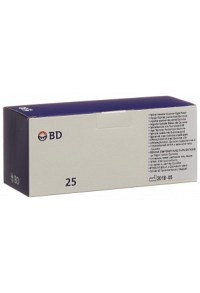 BD YALE SPINAL Nadeln 22G 0.7x90mm schwarz 25 Stk