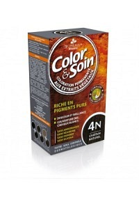 COLOR & SOIN Coloration 4N châtain naturel 135 ml