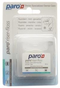 PARO Riser Floss 50m gewachst Mint mit Fluorid