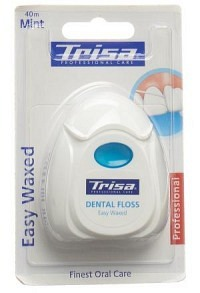 TRISA Zahnseide Easy Waxed 40m mint Xylitol