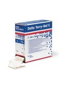 DELTA-TERRY NET C Frotteschlau 5cmx13.7m