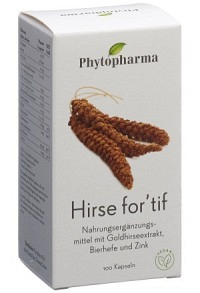 PHYTOPHARMA Hirse for'tif Kaps 100 Stk