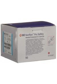 BD VENFLON Pro Safety 22G 0.9x25mm blau 50 Stk