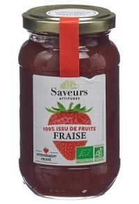 SAVEURS ATTITUDES Konfitüre Erdbeere Bio 310 g