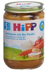 HIPP Gemüsereis mit Bio-Poulet Glas 190 g