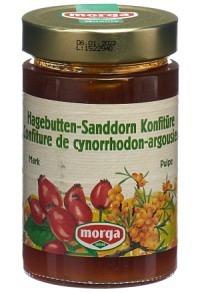 MORGA Konfitüre Sanddorn Hagebuttenmark 350 g