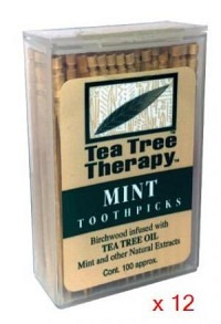 TEA TREE THERAPY Display Zahnstocher 12 Stk