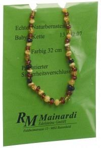 MAINARDI Natur Bernstein 32cm farbig Sicher-Versch