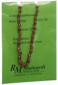 MAINARDI Natur Bernstein 32cm Barock Sicher-Versch