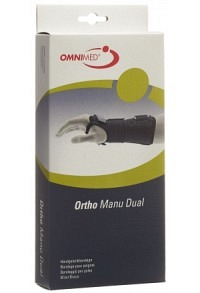 OMNIMED Ortho Manu Dual Handgelenkba L schwarz