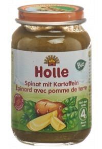 HOLLE Spinat mit Kartoffeln Bio 190 g