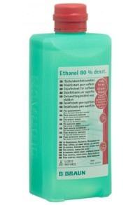 BRAUN Ethanol 80 % für Flächen Ovalflasche 500 ml