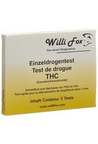 WILLI FOX Drogentest THC einzel Urin 3 Stk