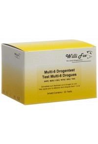 WILLI FOX Drogentest Multi 6 Drogen Urin 10 Stk