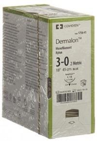 DERMALON 45cm blau 3-0 C-13 36 Stk