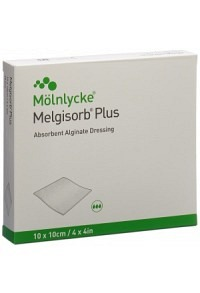 MELGISORB PLUS Alginat-Verband 10x10cm ster 10 Stk