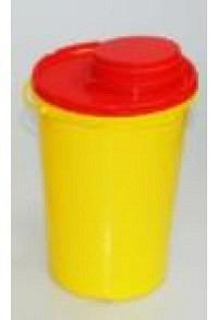 AMPRI Kanülen- Entsorgungsbox 2l gelb/rot