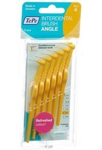 TEPE Angle Interdental-Brush 0.7mm gelb 6 Stk
