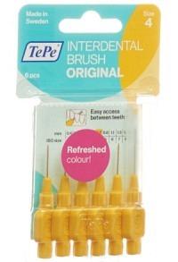 TEPE Interdental Brush 0.7mm gelb Blist 6 Stk