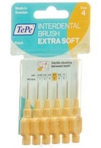 TEPE Interden Brush 0.7mm x-soft gelb Blist 6 Stk