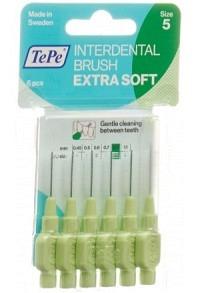 TEPE Interden Brush 0.8mm x-soft grün Blist 6 Stk